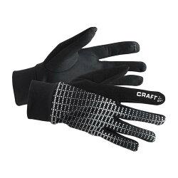 騎跑泳/勇者-CRAFT反光保暖跑步手套 ,寒流,酷寒,嚴冬,戶外手部保暖,手指不凍僵.兩色可選.