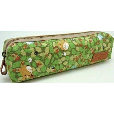 【真愛日本】11121200031 拉鍊筆袋-滿版綠葉 龍貓 TOTORO 豆豆龍 筆袋 鉛筆盒