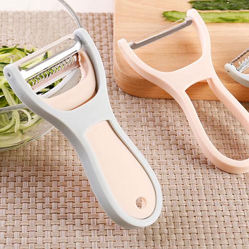 兩件套多功能削皮器不銹鋼去皮器蔬果削皮器削皮刀刮絲刀刨絲器
