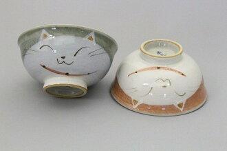 【醉愛·日本】日本製 Matsumoto 松本陶器 可愛貓彩繪陶碗 3個/ 組