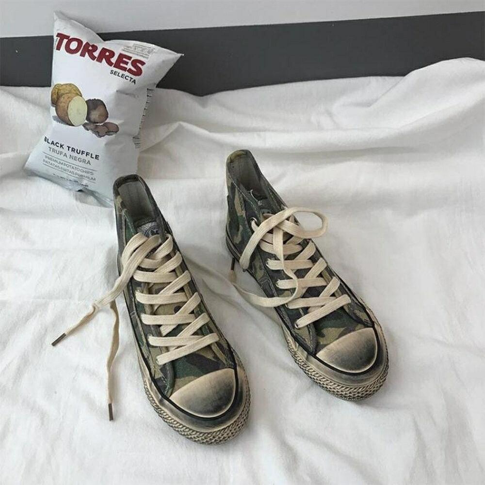高筒帆布鞋女新款韓版ulzzang潮百搭小髒鞋原宿學生港風板鞋