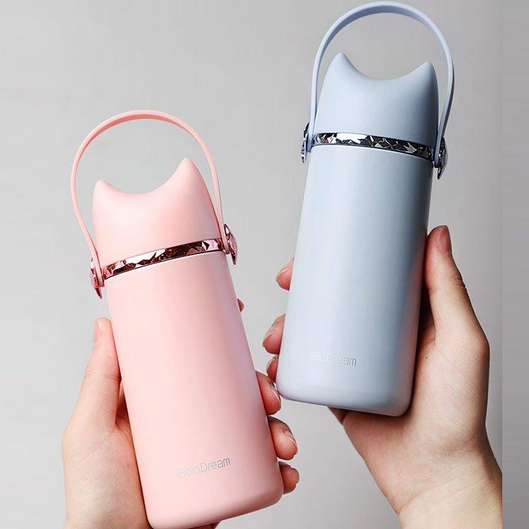 304不鏽鋼保溫杯超萌創意杯子方便攜帶保溫杯保溫瓶
