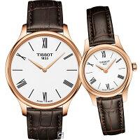 TISSOT天梭唯你寵愛超薄對錶 T0634093601800+T0630093601800-寶時鐘錶-流行女裝