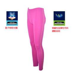 [陽光樂活] MIZUNO 美津濃 女路跑緊身褲 J2TB573167 紫紅