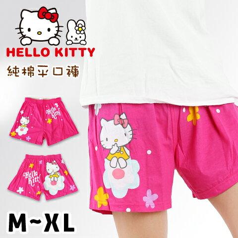 【esoxshop】HELLO KITTY 純棉平口褲 花朵款 三麗鷗