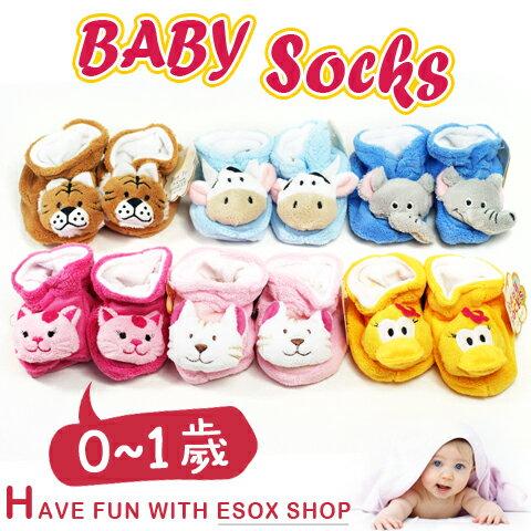 【esoxshop】JunTai 厚厚保暖動物頭鞋型寶寶襪-止滑款│柔軟舒適《兒童襪/嬰兒襪/止滑襪/防滑襪/學步襪》