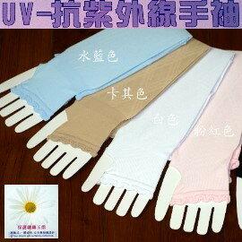 夏季必備╭*抗UV透氣排汗˙多用途露指菱形提花手袖套