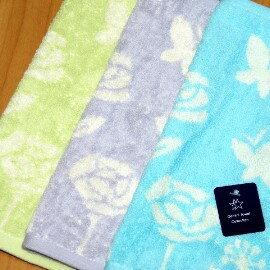 【夏日必備】《小方巾/手帕/童巾》╭*GT玫瑰花蝴蝶 純棉 印花小手巾(24*24cm)
