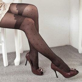 ~esoxshop~╭~夏蘭路 蝴蝶結點點假膝上 褲襪╭~舒適 款~絲襪  褲襪褲  襪~