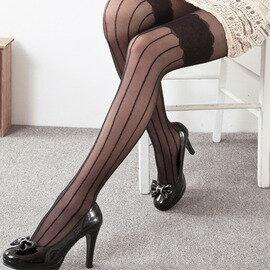 【esoxshop】╭*Pb ModernGirl 蕾絲花朵直條紋假膝上造型褲襪╭*時尚甜美款《絲襪/褲襪褲/造型襪》