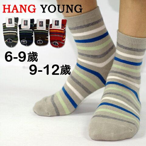 【esoxshop】HANG YOUNG 彩色橫紋童襪│柔軟透氣,舒適好穿《造型襪/短襪/船形襪/學生襪》