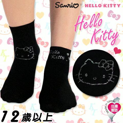 【esoxshop】美娜斯 Hello Kitty限量 超薄透氣寬口襪 大頭印花款 短襪 花紋 造型