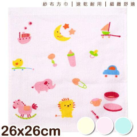 【esoxshop】純棉紗布方巾 可愛小動物款 台灣製 MIT
