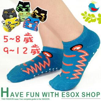 【esoxshop】pb 小鱷魚兒童止滑襪(5~8歲/9~12歲)│台灣製造《寶寶襪/短襪/嬰兒襪/防滑襪/直版襪/魔術襪》