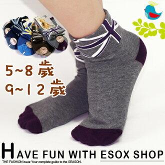 【esoxshop】pb 英倫風細針寬口童襪(5~8歲/9~12歲) 台灣製造 休閒襪 兒童襪