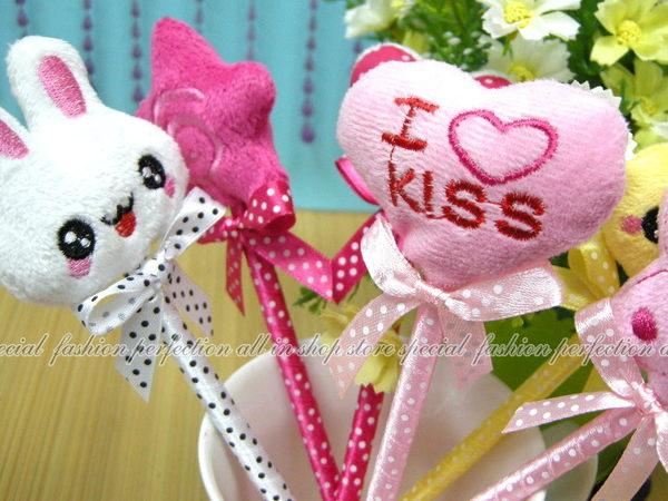 韓版可愛動物星星緞帶造形原子筆 緞帶蝴蝶結筆 簽到筆 圓珠筆【GC225】◎123便利屋◎