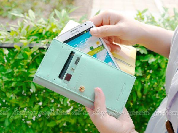 皇冠長款手機包HG010 護照包 零錢包 卡包 長款手拿包附掛繩【GL390】◎123便利屋◎