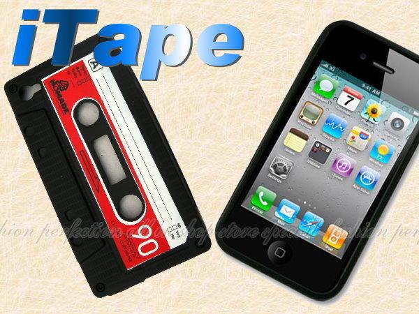 韓日暢銷版 iTape錄音帶復古造型iPhone 蘋果專用 矽膠套 保護套 果凍套【DZ262】◎123便利屋◎