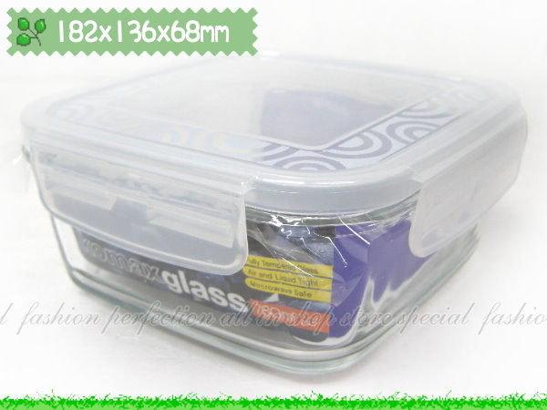 韓國KOMAX 長春藤強化玻璃保 盒~820ML方形款~ 微波保 盒~GJ278~~123