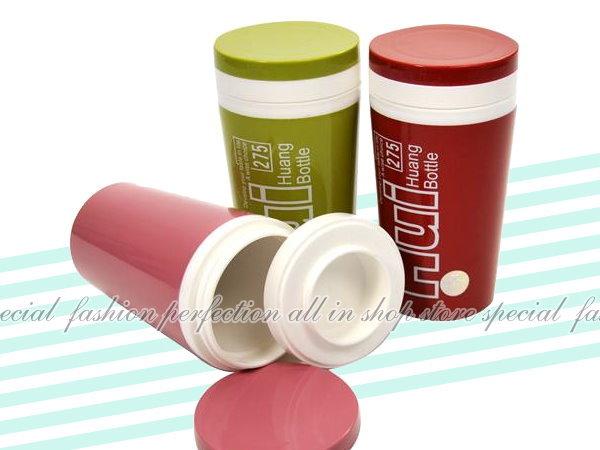 雙層實色密封保溫杯275ML 彩色保冷杯 保溫瓶 水壺 可收納茶包【GF385】◎123便利屋◎