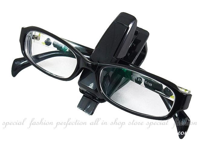 車用眼鏡夾 票據夾 萬用掛夾 名片夾 眼鏡固定夾~不挑色【GF360】◎123便利屋◎