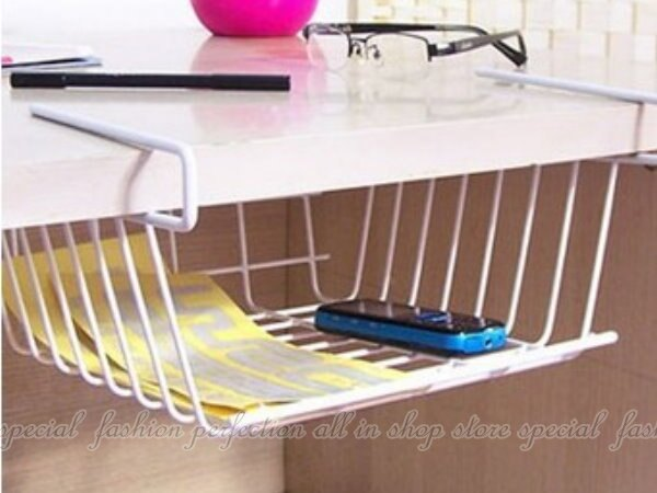 書桌掛架 白色時尚鐵架 置物掛架.廚櫃置物籃 碗盤收納架 置物櫃【GK480】◎123便利屋◎