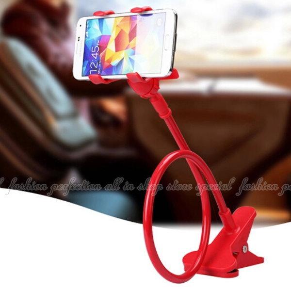 升級版 雙夾手機支架 懶人支架 床頭手機支架 車載支架 IPHONE 6S GPS HTC 三星【DP122】◎123便利屋◎