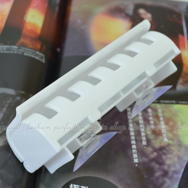 加蓋牙刷架 6位吸盤牙刷架 吸盤式6勾牙刷架【DF225】◎123便利屋◎