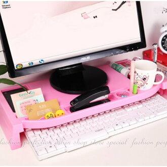 鍵盤收納整理架 電腦收納台 液晶螢幕架 鍵盤收納架 文具收納 專利品【GK410】◎123便利屋◎