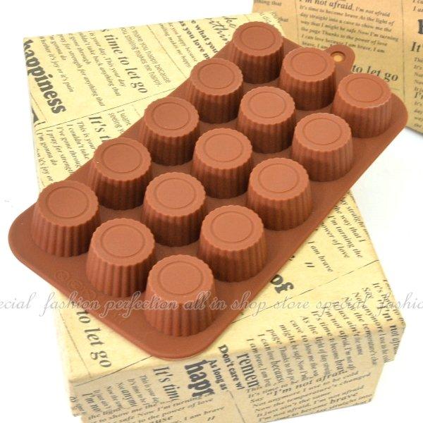 15連瓶蓋造型巧克力模 模具 模型 情人節巧克力造型【DG265】◎123便利屋◎