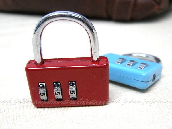 數碼便利鎖-橫式造型鎖CH-A1 三環數字彩色密碼鎖【GJ203】◎123便利屋◎