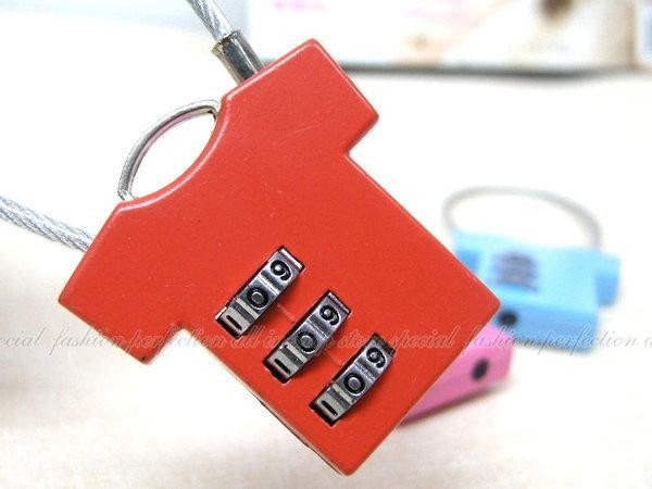 數碼鋼絲密碼鎖-衣服造型CH-A5 三環數字彩色密碼鎖【GI216】◎123便利屋◎