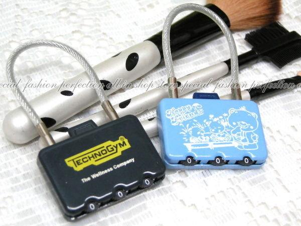 數碼鋼絲密碼鎖-CR29 行李箱造型鎖 三環數字彩色密碼鎖【GI204】◎123便利屋◎
