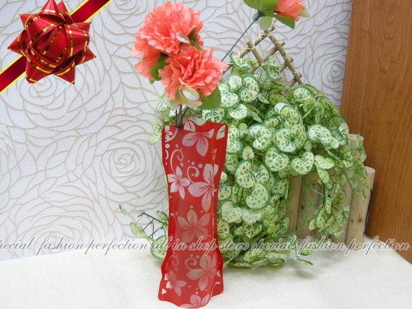 環保花瓶 可摺疊花瓶 折疊花瓶 藝術pvc塑膠花瓶 ~不挑色~【DY235】◎123便利屋◎