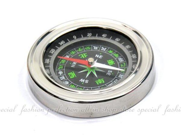 大號不銹鋼指南針 羅盤風水指北針 掌上型羅盤針【GF301】◎123便利屋◎
