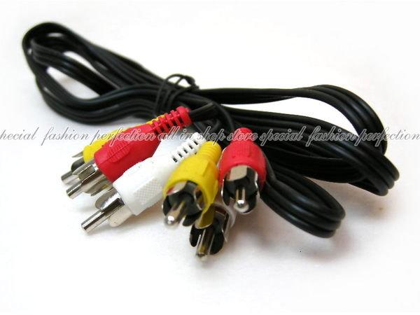 ◎123便利屋◎【DE291】RCA 對 RCA 音視頻線 AV線(影音訊號線)3對3公對公 RCA接頭線 150公分