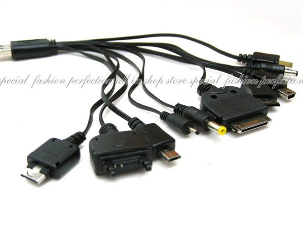 USB 1對10 充電線1 TO 10(1轉10) iPhone iPod PSP MP3 MP4 PDA GPS【DE226】◎123便利屋◎