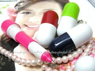 糖果藥丸原子筆『彩色無圖款』伸縮圓珠筆 造型原子筆【GC265】◎123便利屋◎