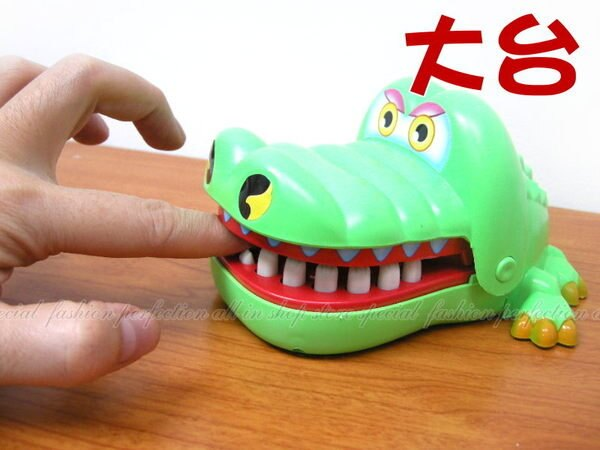 大台鱷魚先生 拔牙 咬人遊戲(盒裝) 好膽麥走!【DF485】◎123便利屋◎