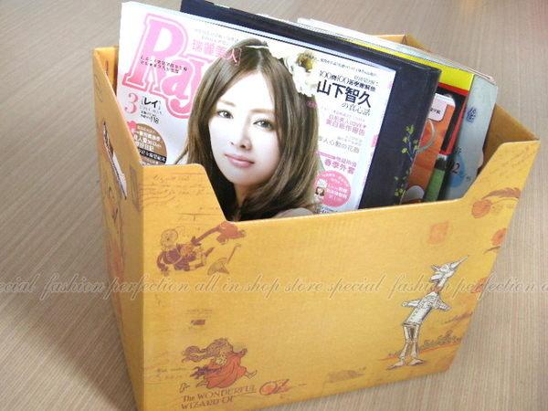 韓國OZ 復古郵票造型整理盒A4 文件收納盒.書報整理箱 收納箱【DK128】◎123便利屋◎