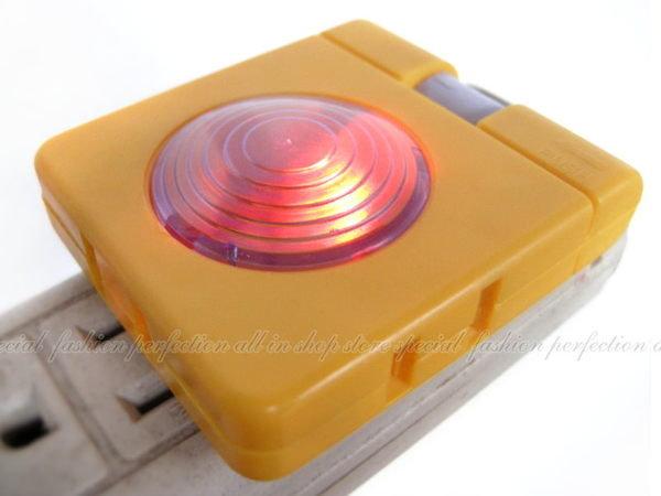 附燈原指示三孔插座 3孔插座彩色小夜燈 台灣製造 TC-020【DM218】◎123便利屋◎