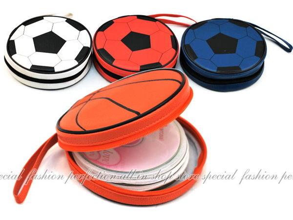 籃球 足球 造型CD收納盒24片裝 CD包 cd收納包~不挑款【DO124】◎123便利屋◎