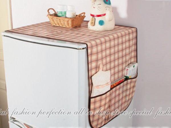 冰箱防塵套+收納袋S9140 兩側附收納袋 廚房 冰箱防塵套【DO366】◎123便利屋◎
