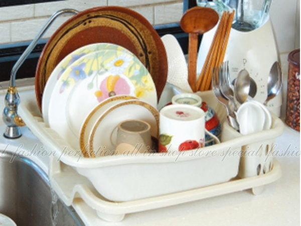 妙用滴水碗盤架專利設計 碗盤滴水架 碗筷餐具架【DN410】◎123便利屋◎