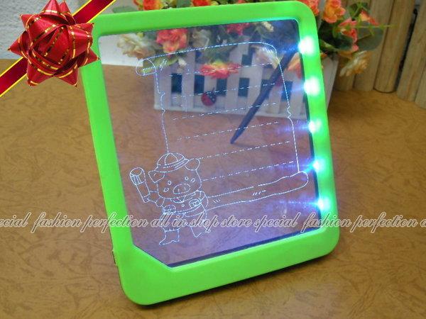 螢光留言板LED留言版 寫字板 看板 發光留言板 附筆22.5x20cm不挑款【DQ416】◎123便利屋◎