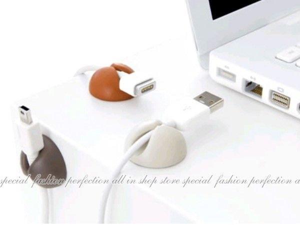萬能桌面固線夾多功能線夾/集線器USB 線夾.固定夾.多功能線夾(6入裝)【DW340】◎123便利屋◎