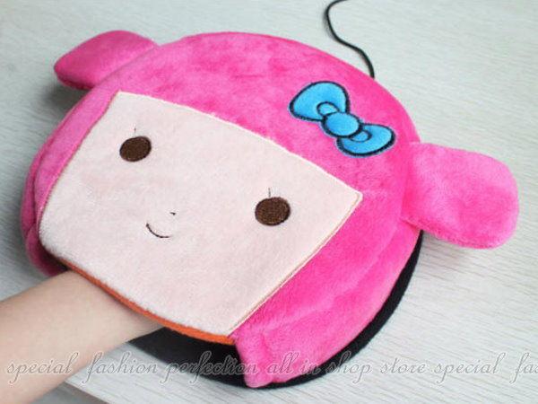 可愛色動物USB保暖電暖滑鼠墊 保溫暖手寶 小資OL必備【DC318】◎123便利屋◎