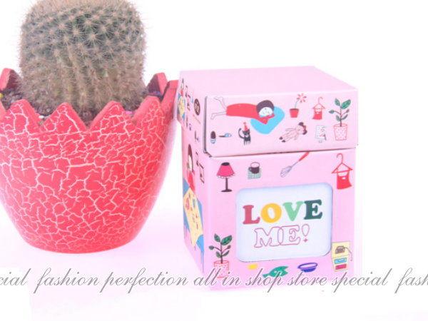123便利屋:DIY迷你收納盒『小女孩』筆筒首飾盒化妝盒(附蓋)小相框【GE380】◎123便利屋◎