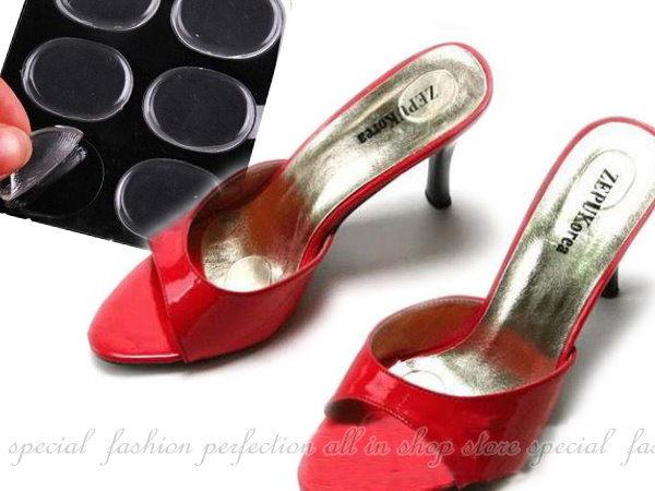 矽膠小圓貼6入 圓形後跟貼 磨腳貼 打腳 勒腳 夾腳 鞋墊【GE301】◎123便利屋◎