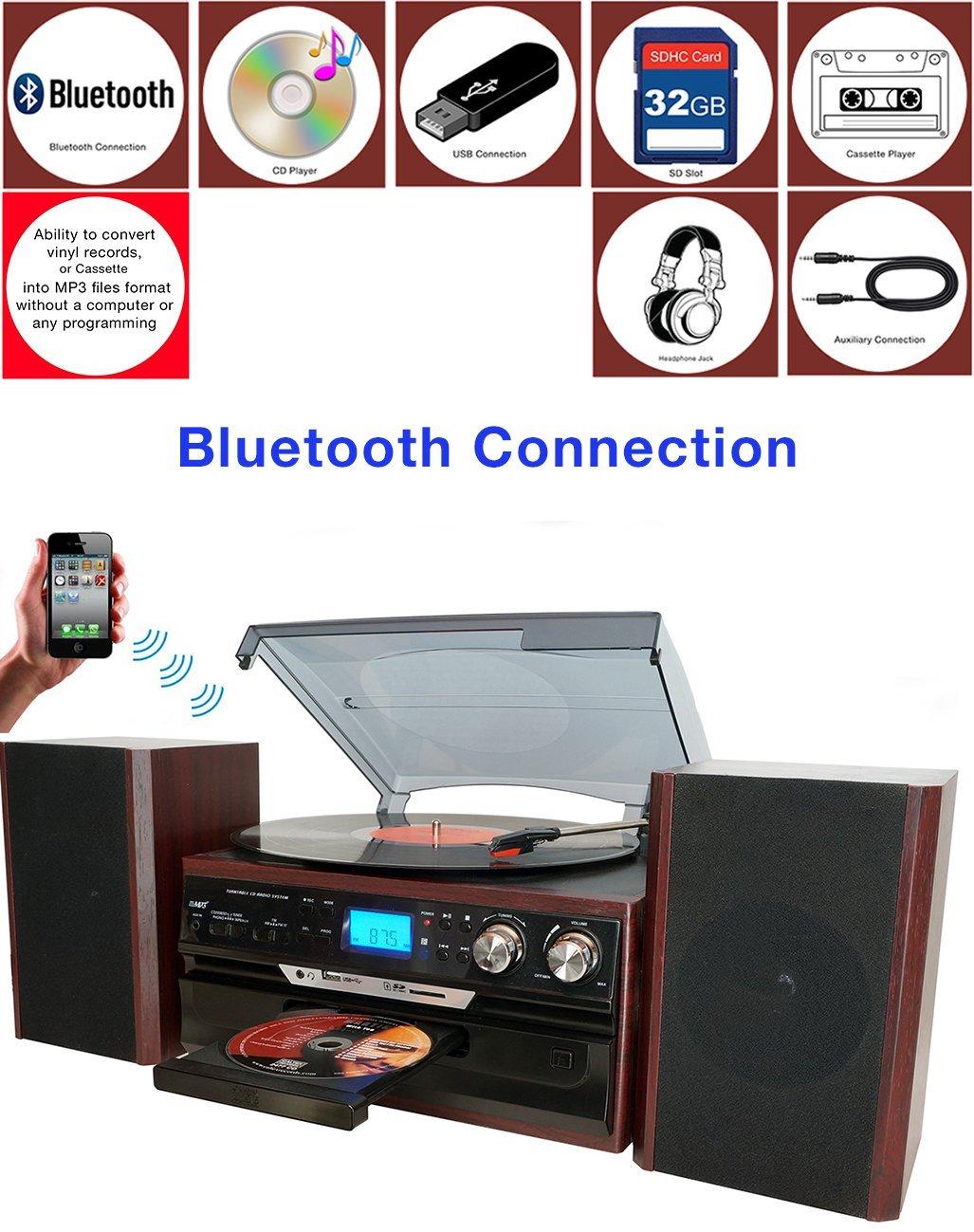 Electronic Palace: Boytone BT-24DJM Turntable Bluetooth CD